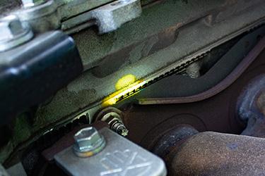Yellow-Oil-Leak
